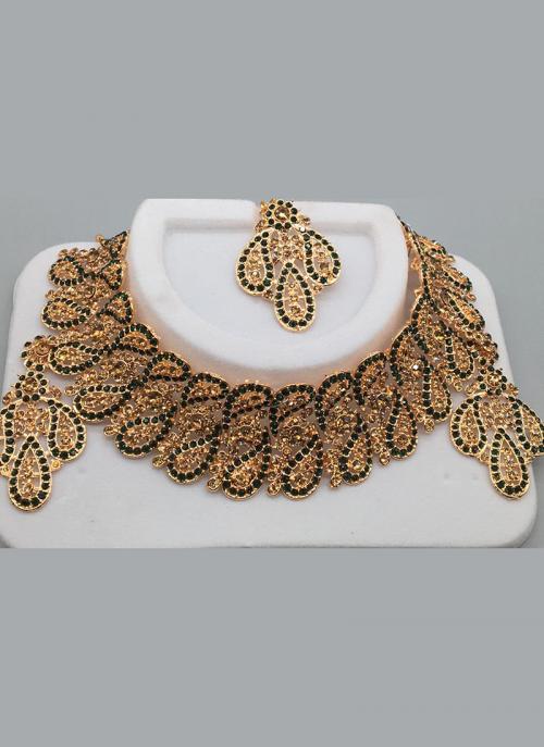 Floral Diamond Chokar Wedding Necklace Set