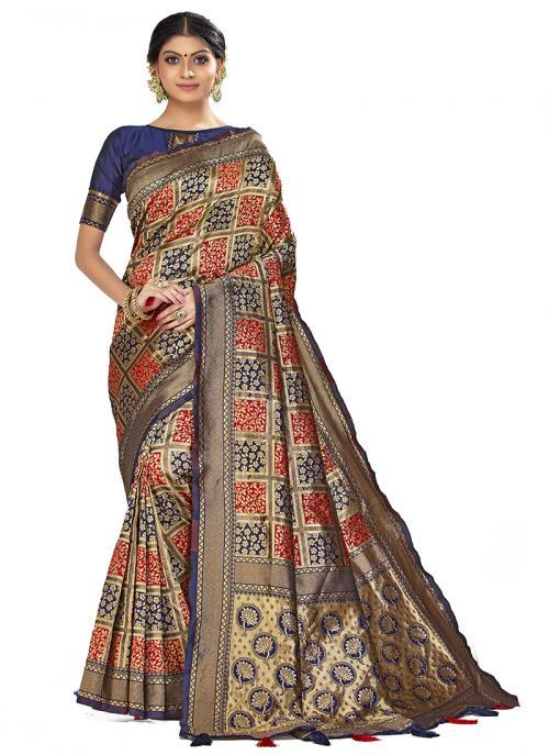 Traditional Wear Gold Weaving Art Silk Saree