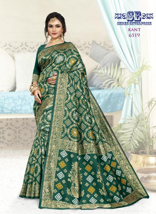 Traditional Wear Green Weaving Soft Silk Saree