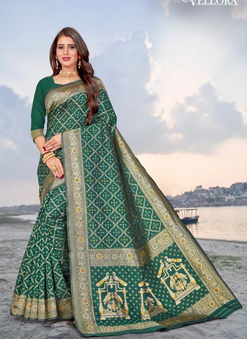 Party Wear Green Weaving Banarasi Silk Saree