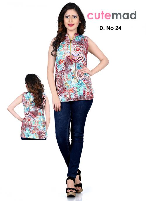 Trendy Multi Colour Georgette Diwali Special Printed Top Sws