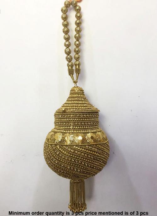 Designer golden metal sling bag