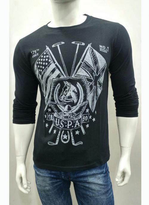 Trendy Stylish Casual Wear Black Cotton Plain T-Shirts
