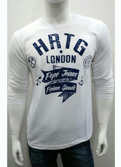Casual Wear Cream Cotton Plain T-Shirts