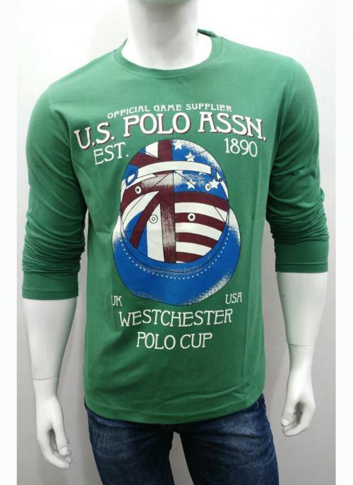 New Designer Casual Wear Green Plain Cotton T-Shirts