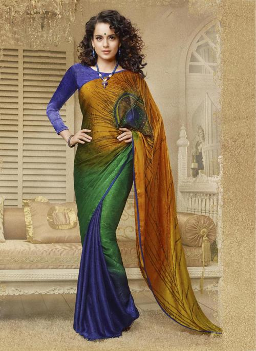 Casual Wear Purple Jacqaurd Printed Work Saree