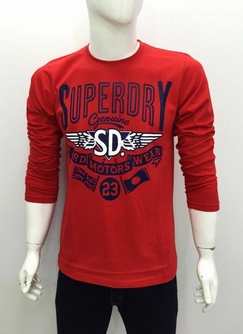 Red New Casual Wear Cotton Plain T-Shirts