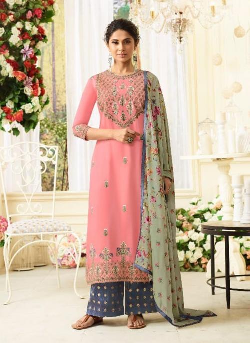 Festival Wear Gajri Modal Silk Resham Work Salwar Suit