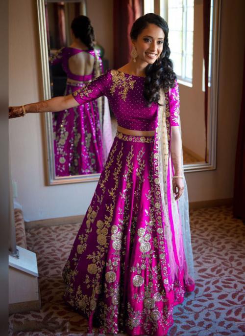 Party Wear Rani Tapeta Silk Heavy Embroidery Work Lehenga Choli