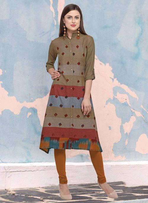 Regular Wear Multi Color Rayon Digital Print Kurti